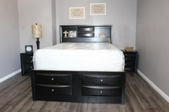 """Queen Size Black Bedroom Set (3Pc) - """"Paola Collection"""" in Kingwood, Texas"""