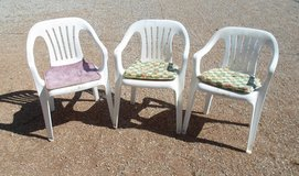 plastic chairs with pads in 29 Palms, California