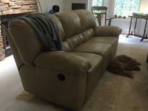 Tan sofa and love seat with working recliners in Fort Campbell, Kentucky