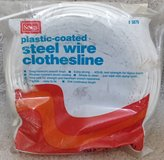 NEW 100 feet CLOTHES LINE ~ white plastic coated wire ~ dry drying clothing indoors outdoors ~ s... in Westmont, Illinois