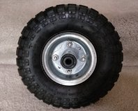 New 10 inch unused 4.10/3.50-4 replacement wheel & tube tire. Max load 300LBS WILL SHIP in Bartlett, Illinois
