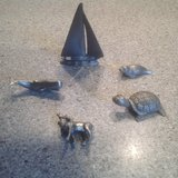 Pewter Minature Animals and Boat in Chicago, Illinois