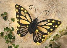 Solar LED Butterfly Wall Decoration in Ramstein, Germany