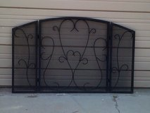Wrought Iron fire place screen in Alamogordo, New Mexico