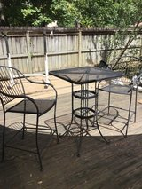 Patio bar set - table and 2 chairs,  metal with mesh in Kingwood, Texas
