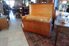 antique soft wood chest with rounded top and tray inside in Stuttgart, GE
