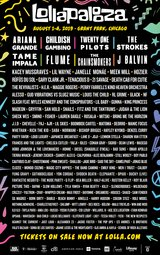 Lollapalooza four day passes in Chicago, Illinois