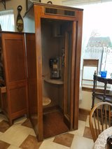 1950's telephone booth and phone in Fort Leonard Wood, Missouri