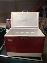 Vintage red Coleman cooler in Bartlett, Illinois