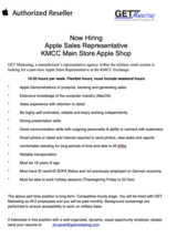 Job Opening:  Apple Vendor Shop in Shop at KMCC Ramstein in Ramstein, Germany