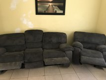 Couch and recliner in Moody AFB, Georgia