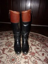 Mans DEHNER 'Fox Hunt' Black Leather Riding Boots in Byron, Georgia