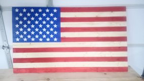 Homemade American Flag in Fort Leonard Wood, Missouri