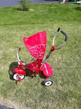 Radio Flyer Trike with removable Parent control and hood in Morris, Illinois
