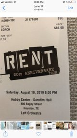"""2 Broadway Series Tickets for """"Rent"""" in Kingwood, Texas"""