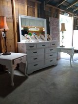 signed ultra high end dresser with mirror 2 night stands in Camp Lejeune, North Carolina