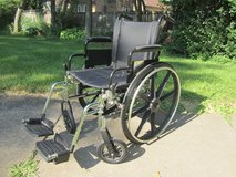 "Medline K4 Basic Lightweight Wheelchair with 18""Wx16""D Seat, Removable Footrests in Naperville, Illinois"