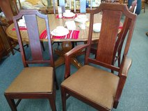 6 Vintage Dining Room Chairs Quartersawn Oak in Bartlett, Illinois