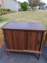 Small wood cabinet in DeKalb, Illinois