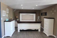 Shaby Chic Rustic White Distressed Bedroom Set - Free Delivery in Kingwood, Texas