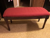 Upholstered Bench Seat-Dark Wood in Aurora, Illinois