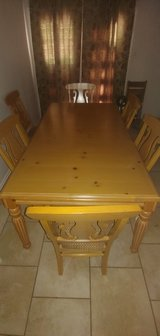 Ashley Light Blonde Table with 6 Chairs in Kingwood, Texas