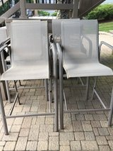 SET OF 4 BAR HIGH PATIO CHAIRS in Westmont, Illinois