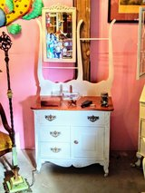 1880 dresser with mirror chalk painted in Camp Lejeune, North Carolina