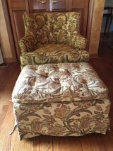 Drexel Heritage Furnishings Vintage Chair and Ottoman in Yorkville, Illinois