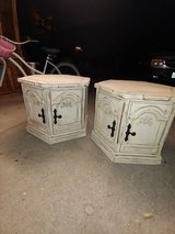Matching end tables. Solid wood in Conroe, Texas