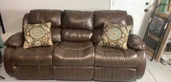 Leather couch/ recliner in Camp Lejeune, North Carolina