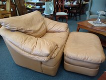 Camel Faux Leather Chair and Ottoman in Bartlett, Illinois