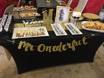Mr. Onederful party decorations in Chicago, Illinois