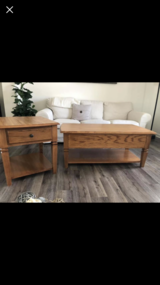 Solid Oak Coffee Table Set in Chicago, Illinois