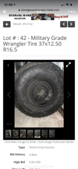 Goodyear Wrangler Wheels & Tires 37x12.50 R16.5 LT - Military or Commercial Grade in Kingwood, Texas