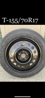 Spare Tire & Rim (Compact Car) T155/70R17 $50 OBO in Kingwood, Texas