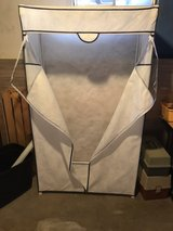 Portable closet / clothes rack w/ dust cover in Bartlett, Illinois