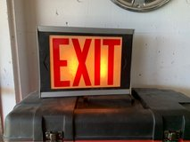 Vintage Industrial Exit sign lamp in Okinawa, Japan