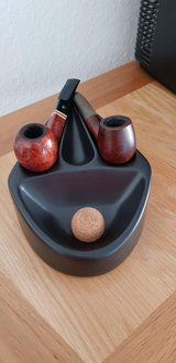 2 Classic wooden smoking pipes & pipe stand $30 OBO in Stuttgart, GE