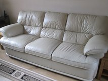 Leather Settee/Couch and Recliner in Lakenheath, UK
