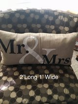 Mr & Mrs accent pillow in Conroe, Texas