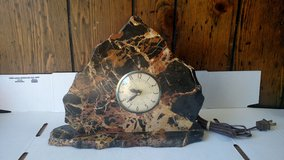 Antique Airbnb Rock Clock in Yucca Valley, California