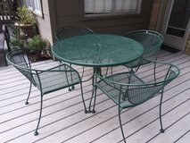 Wrought iron table & chairs in Kingwood, Texas