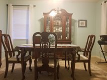Dinning room table and china cabinet in The Woodlands, Texas