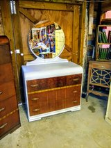signed antique waterfall dresser and mirror in Camp Lejeune, North Carolina