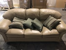 White Leather Couch in Chicago, Illinois