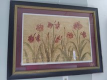 Painting of flowers w.black frame in Wilmington, North Carolina