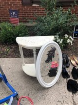 shabby chic table and mirror in Bartlett, Illinois