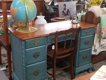 Vintage maple knee hole desk and chair in Camp Lejeune, North Carolina