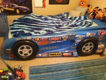 LITTLE TIKES CAR BED WITH DISNEY CARS SHEETS & COMFORTER in Fort Campbell, Kentucky